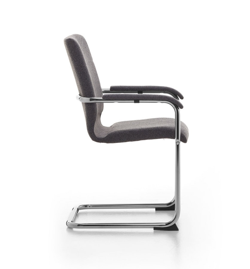 Iris, Chaise luge en métal, recouvert de faux cuir