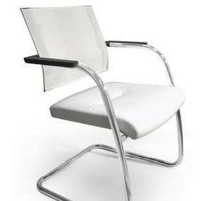 TITANIA 2867, Chaise à base de slad chromé et mesh
