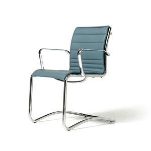 Auckland chair, Chaise rembourrée pour les visiteurs, shell net, différentes couleurs