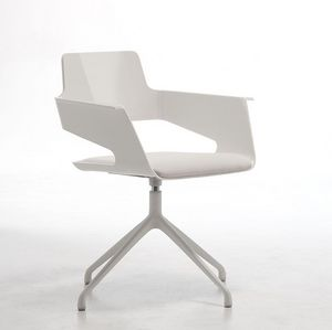 B32 SP, Chaise pivotante, design moderne, en nylon brillant