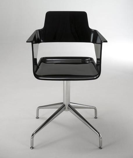 B32 SP, Chaise pivotante, design moderne, en nylon brillant