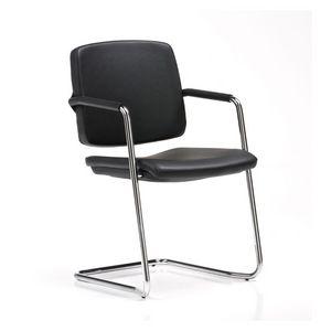 Guest, Chaise visiteur, empilable, avec accoudoirs recouverts