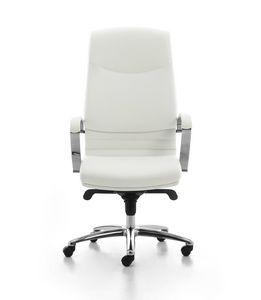 Digital Chrome 01, Chaise rembourrée directionnelle à haut dossier pour le bureau