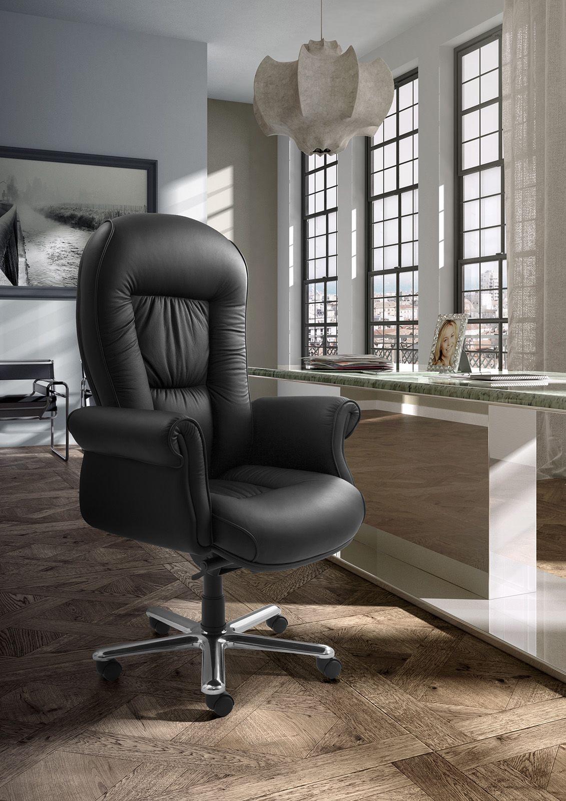 Doge Lux high executive, Fauteuil de bureau exécutif, tapissé en cuir