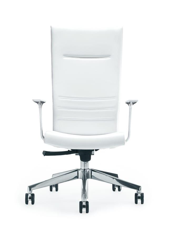 King, Directionnel chaise à dossier haut avec des roues