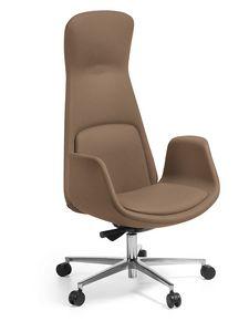 Nordes haute, Chaise de bureau avec un design doux