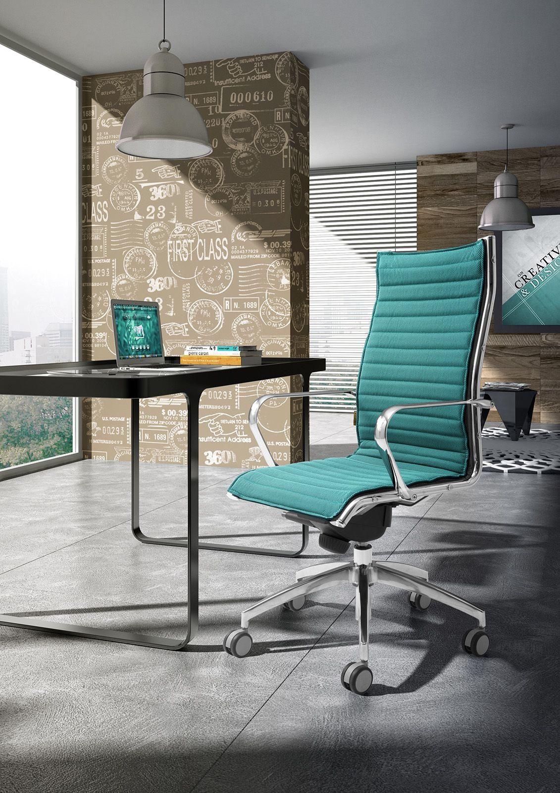 Origami IN high executive 70110M, Presidential chaise de bureau, aluminium chromé