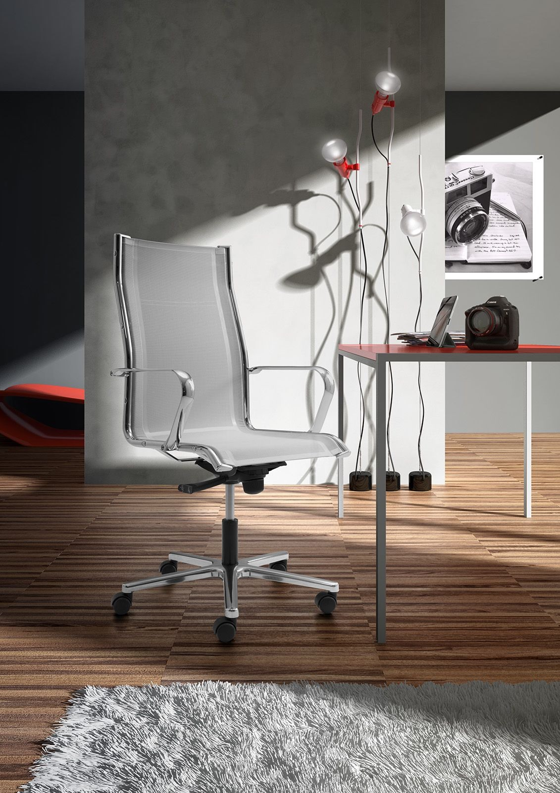 Origami RE high executive 70211, Chaise de bureau avec assise et dossier en tulle