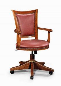 Art. 530g, Chaise à roulettes, avec cadre en bois massif