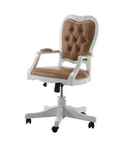 Art. AX403, Chaise pivotante, accoudoirs rembourrés, pour le bureau classique
