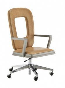 Art. VL414, Swivel chaise de bureau avec dossier ajouré
