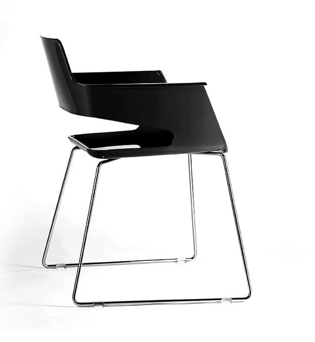 B32 SL, Chaise moderne, avec siège en nylon et le dossier