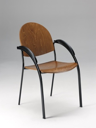 Beba, Métal chaise rembourrée pour les conférences et réunions