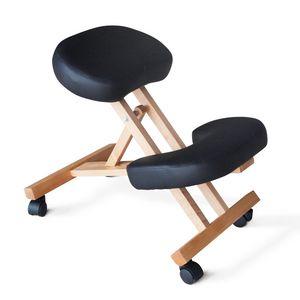 Chaise de bureau orthopédique en bois – PN100LEG, Chaise de bureau à roulettes, orthopédique et ergonomique