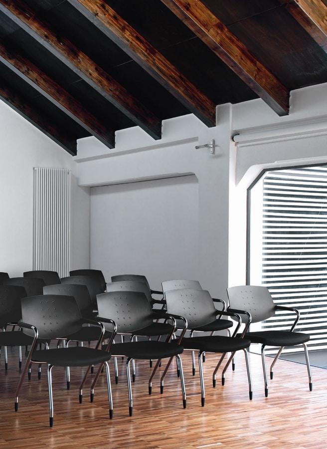 EURA conference, Chaise rembourrée, polyvalent, pour le bureau contemporain et une salle de conférence