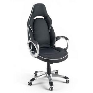 Fauteuil pour fauteuil bureau de sport - SU131RAC, Chaise de bureau en faux cuir, avec accoudoirs robustes