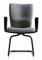 Five visiteurs, Chaise en métal, avec cadre de traîneau, des centres d'appels