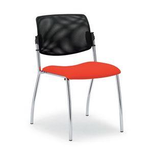Laila 0588L, Chaise avec dossier en maille, pour salles de réunion