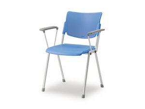 LaMia chaise à 4 pattes 6900WGA, Chaise empilable avec structure en acier peint