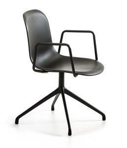 Máni Plastic AR SP, Chaise de bureau pivotante avec accoudoirs