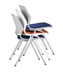 NESTING DELFIBRIO 063, Chaise empilable avec siège rembourré