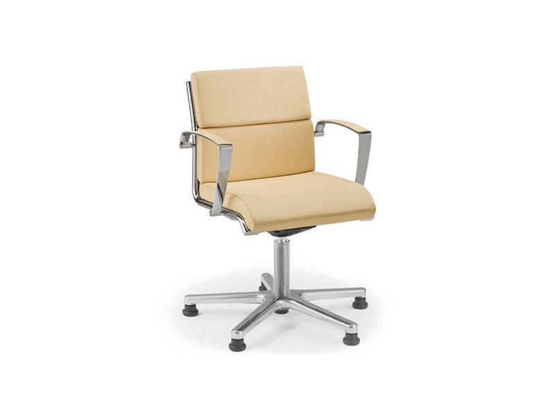 Origami CU guest 70435, Chaise rembourrée avec roues pour le bureau