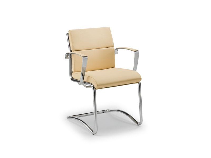 Origami CU guest 70450, Chaise rembourrée pour le bureau, avec piètement luge