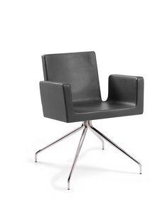 Ormelle Office, Chaise moderne avec socle haut à 4 rayons, pour salles d'attente