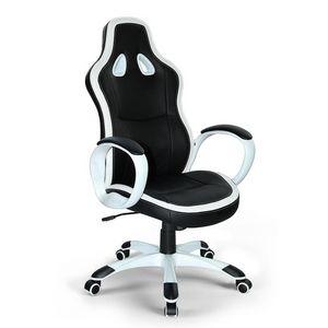 Poltrona gaming ufficio ecopelle sedia – SU035RAC, Fauteuil de bureau sportif, stable et confortable