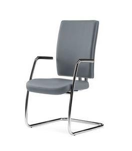 PROGRESS, Chaise d'invité pour bureau en cuir