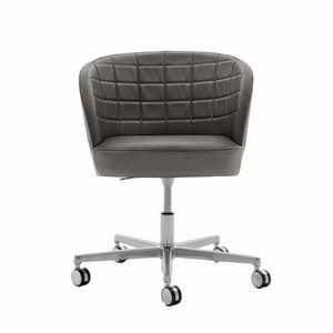 Rose 03036, Chaise de bureau à roulettes avec dossier rembourré