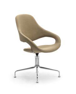 Samba Plus poulpe, Chaise rembourrée avec base pivotante avec 4 rayons