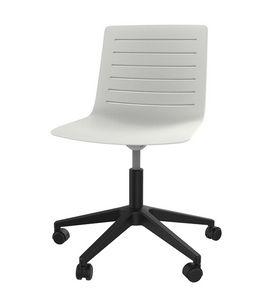 Slim 04, Chaise de bureau en polypropylène avec 5 rayons en plastique