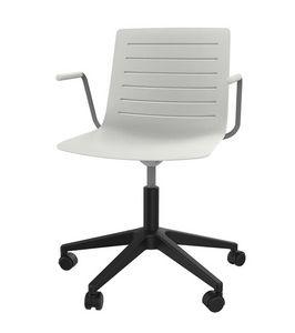 Slim 04A, Chaise à 5 rayons avec coque en polypropylène renforcée
