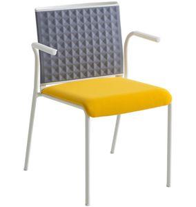 Teckel T B, Chaise avec dossier thermoformé, avec accoudoirs