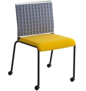 Teckel T R, Chaise sur roulettes avec dossier thermoformé