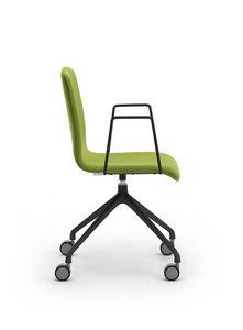 Zerosedici pivot, Chaise pivotante avec base à 4 rayons avec roulettes