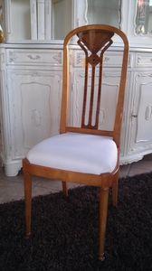 2210 CHAISE, Chaise à dossier haut, style classique