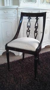 2290 CHAISE, Chaise avec dossier incurvé, style anglais