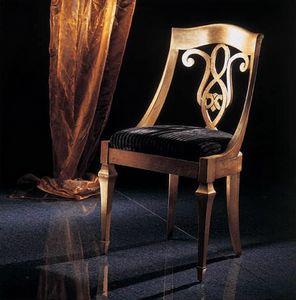 267S, Chaise classique avec dossier décoré