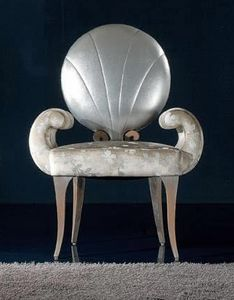 281S, Chaise en bois avec dossier rond