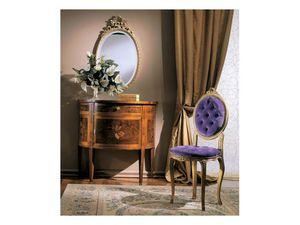 3290 CHAIR, Chaise en bois rembourré, le style de luxe classique