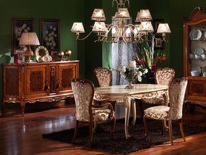 3480 FAUTEUIL, La tête de la chaise classique de la table, pour les cantines de luxe