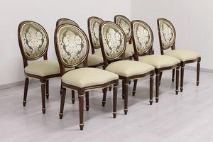 Rotondo cuir, Chaise classique alternatif avec des armes pour les restaurants