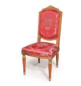 505/B, Chaise de style classique pour la salle à manger, finissages avec feuille d'or