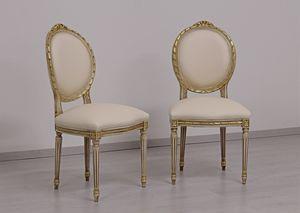 Dama cuir, Chaise classique avec accoudoirs pour les hôtels et restaurants