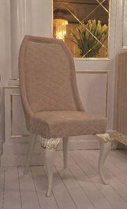 Art. 101, Chaise de style classique, recouvert de cuir suède