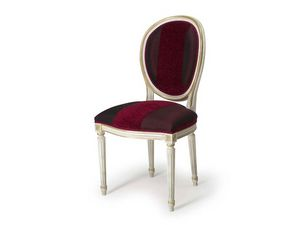Art.104 chair, Chaise avec dossier rembourré ovale, Style Louis XVI