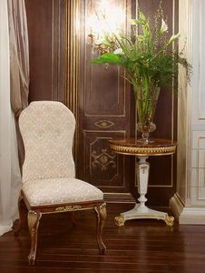Art.1056, Chaise rembourrée en velours de soie, ultra-luxe