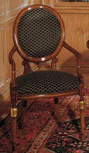 Art. 1113, Chaise de style classique pour les salles de séjour, dossier ovale